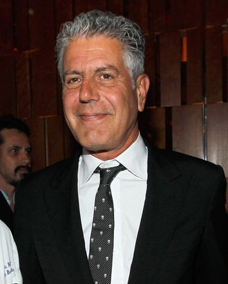Anthony Bourdain attends GQ's The Roast of Alan Richman on May 16, 2012 in New York City.