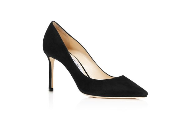 Jimmy Choo Romy 85 Suede High Heel Pointed Toe Pumps