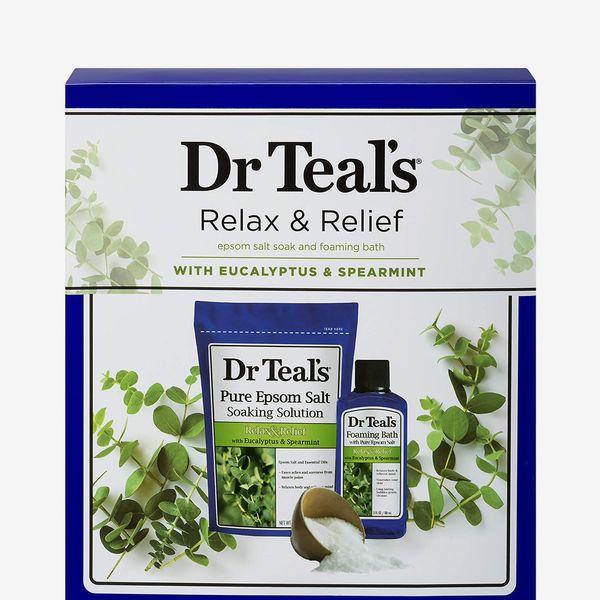 Dr Teal's Eucalyptus Epsom Salt & Foaming Bath Oil Sampler Gift Set