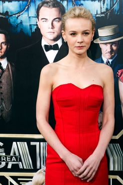 Carey Mulligan arrives at the World Premier of The Great Gatsby May 1, 2013 at Avery Fisher Hall at Lincoln Center New York. Leonardo DiCaprio stars in the title role.