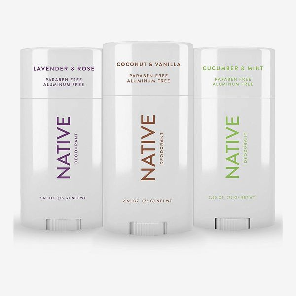 Native Deodorant 3 Pack - Coconut & Vanilla, Lavender & Rose & Cucumber & Mint