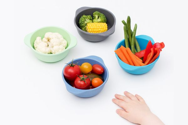 Bobo&Boo Bamboo Kids Snack Bowls, Set of 4
