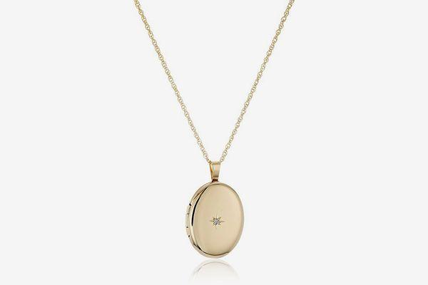 Amazon Diamond Locket Necklace