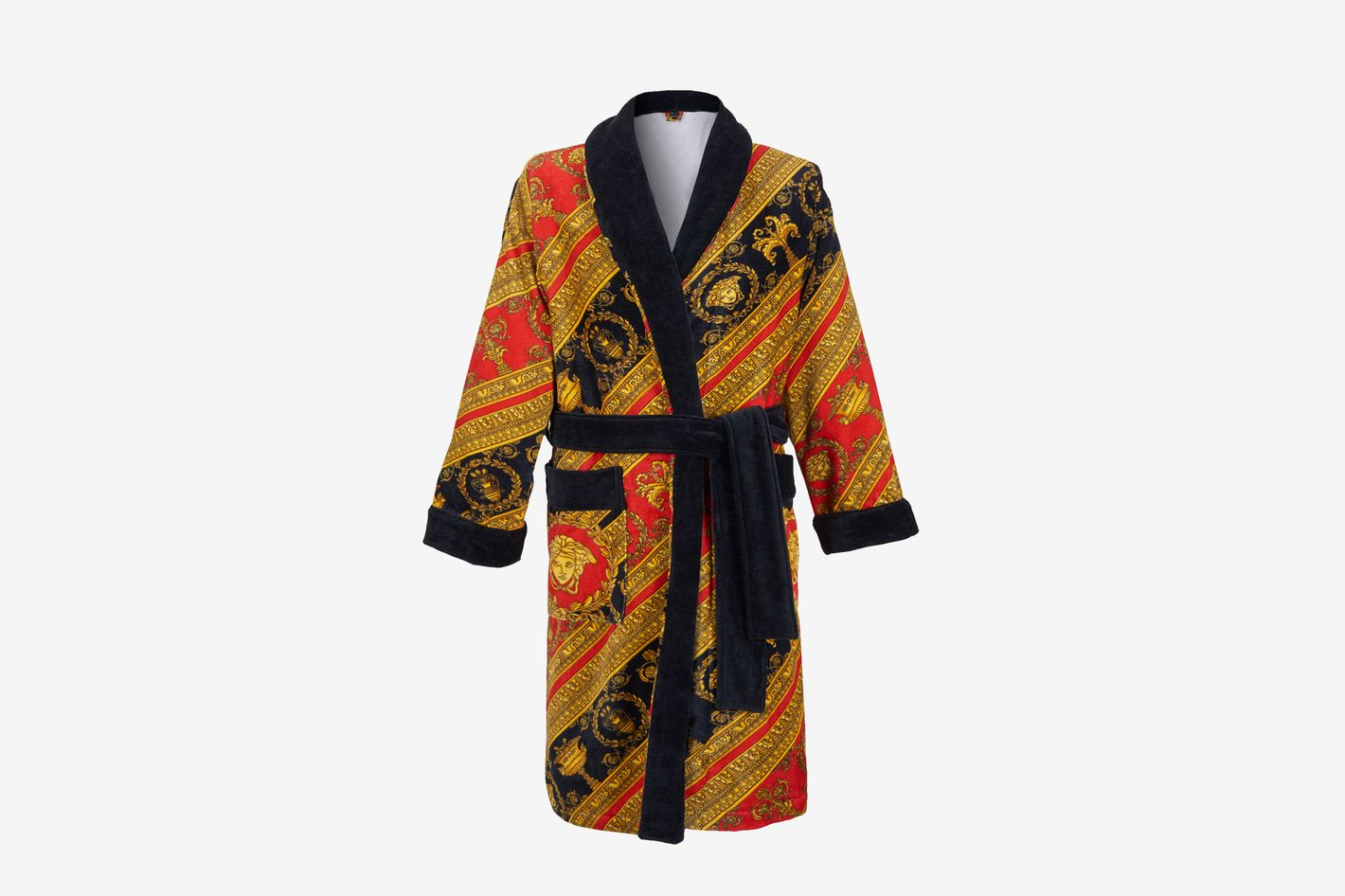 Versace I ♡ Baroque Terry Cloth Bathrobe