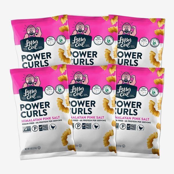 LesserEvil Power Curls, Himalayan Pink Salt, 6-Pack