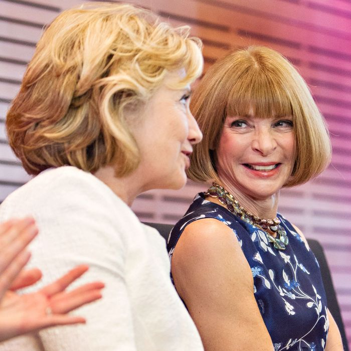 Hillary Clinton and Anna Wintour.