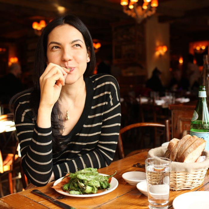 Crosley tempts fate with blistered peppers at Morandi.