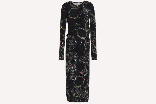 Margerita floral-print stretch-jersey midi dress
