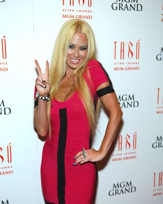 Former adult entertainment star Jenna Jameson arrives at the Tabu Ultra Lounge at the MGM Grand Hotel/Casino on April 7, 2012 in Las Vegas, Nevada.