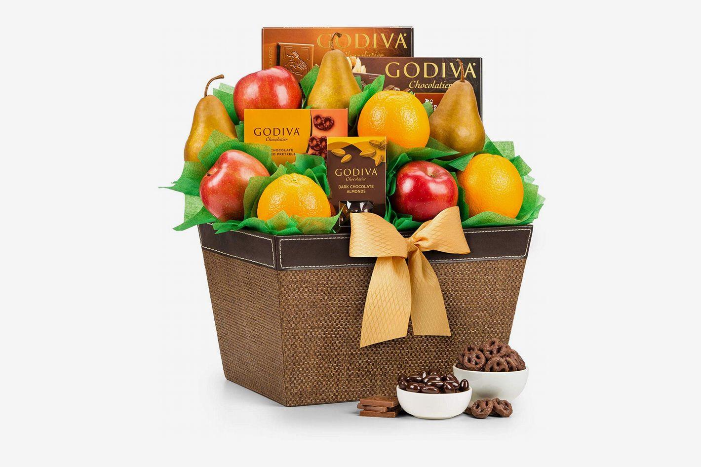 GiftTree Fresh Fruit & Godiva Chocolate Gift Basket