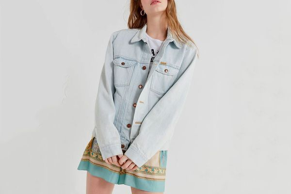 Vintage Bleached-Out Denim Jacket