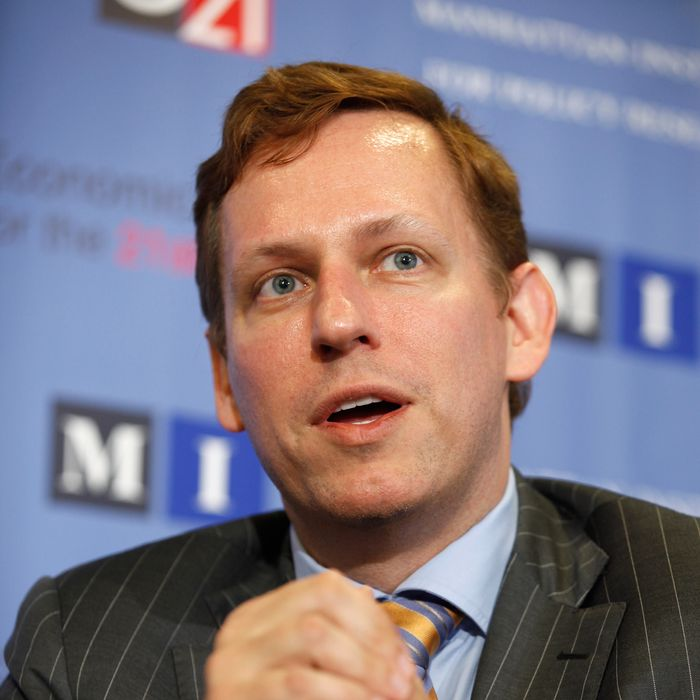 PayPal co-founder and former CEO Peter Thiel speaks about his National Review article,