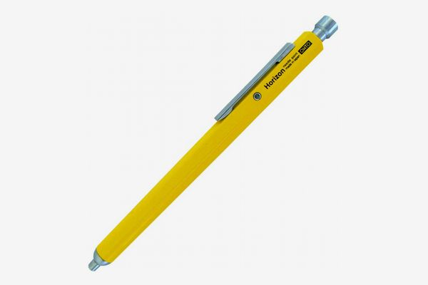 Ohto Needle Point Knock Ballpoint Pen Horizon Eu 0.7mm Ballpoint Yellow Body