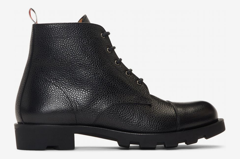 Thom Browne Black Derby Boots