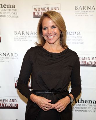 NEW YORK, NY - FEBRUARY 09: Katie Couric attends the 2012 Athena Film Festival: A Celebration Of Women And Leadership Opening Night Reception at Barnard College on February 9, 2012 in New York City. (Photo by Robin Marchant/Getty Images)