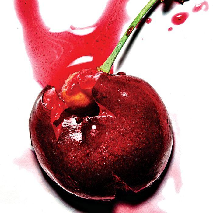 A freshly picked cherry.