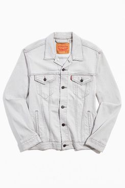 Levi's Pale Grey Denim Trucker Jacket
