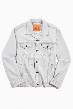 Levi's Pale Grey Denim Trucker Jacket