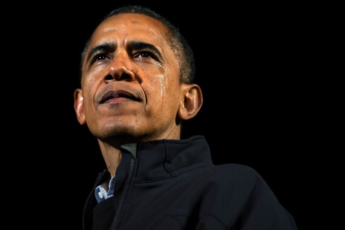 An emotional President Barack Obama wraps up his campaign with a final stop in downtown Des Moines, Iowa, on Monday, November 5, 2012.
