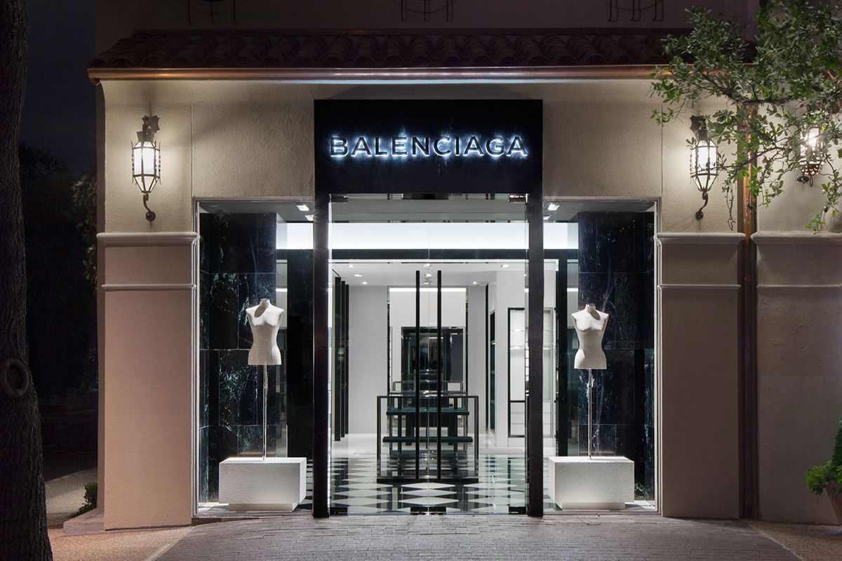 Balenciaga does dallas inside the new store the cut for Balenciaga store in soho