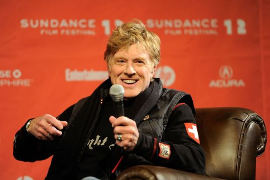 PARK CITY, UT - JANUARY 19:  Sundance Institute President and Founder Robert Redford speaks at the opening day press conference held at the Egyptian Theatre during the 2012 Sundance Film Festival on January 19, 2012 in Park City, Utah.  (Photo by Jemal Countess/Getty Images)