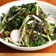 Crispy kale salad with lime, chile, and Thai basil.