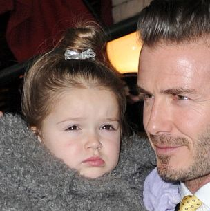 Harper and David Beckham.