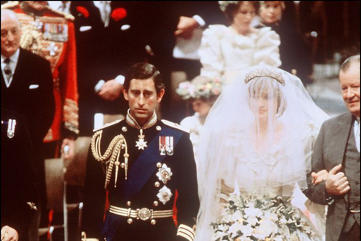 Prince Charles and Princess Diana at their wedding.