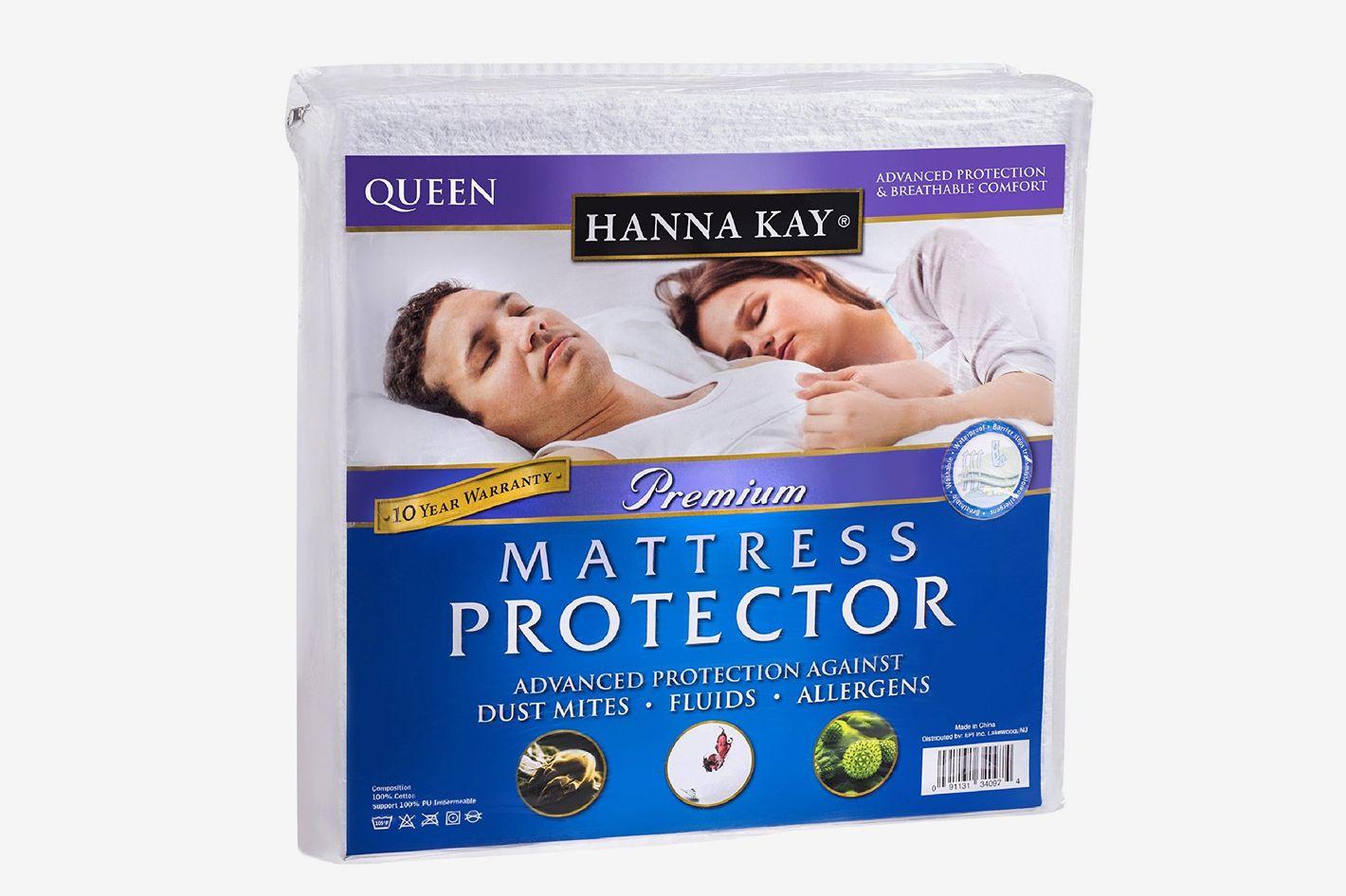 Hanna Kay Premium Hypoallergenic Waterproof Mattress Protector - Queen