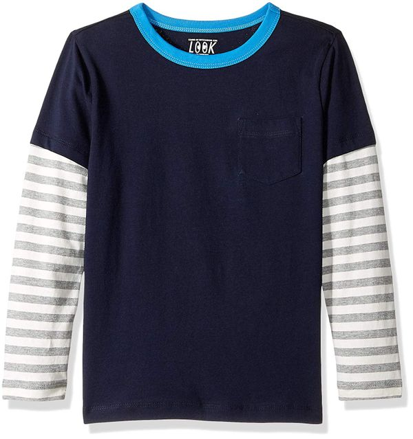 LOOK by crewcuts Boys' Long Sleeve Layered Tee