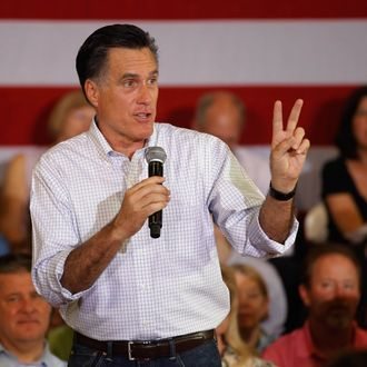 Republican presidential candidate, former Massachusetts Gov. Mitt Romney holds a town hall-style meeting at the Sullivan Community Center Gymnasium March 18, 2012 in Vernon Hills, IL.