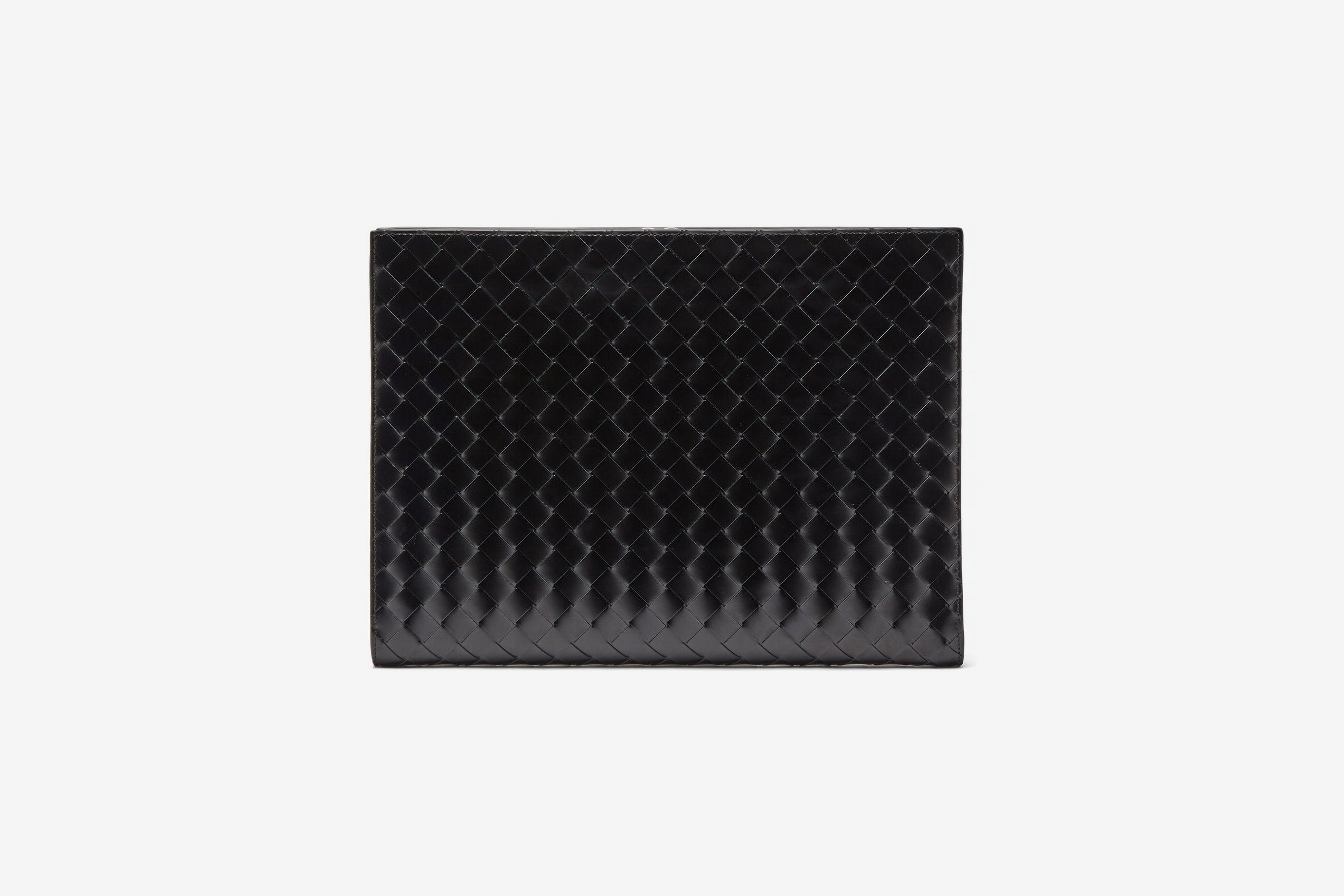Bottega Veneta Intrecciato-Leather Document Holder
