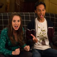 "COMMUNITY -- ""VCR Maintenance and Educational Publishing"" Episode 509 -- Pictured: (l-r) Alison Brie as Annie, Danny Pudi as Abed."