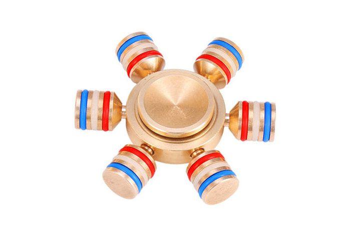Glowing Brass Hand Spinner