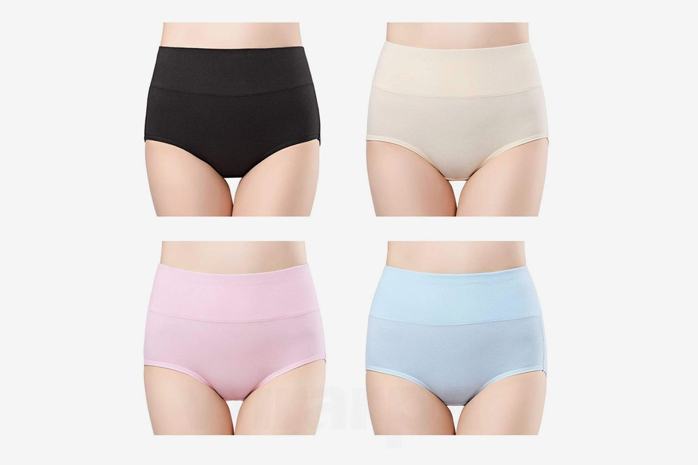 e973767d54e Wirarpa Women s High Waist Cotton Briefs (4-Pack)