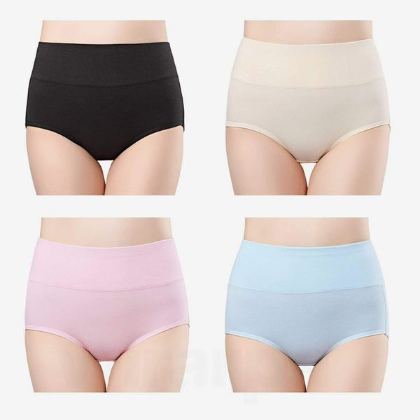 Women Soft Cotton High Waist Panties Boxers Briefs Knickers Underpants Underwear