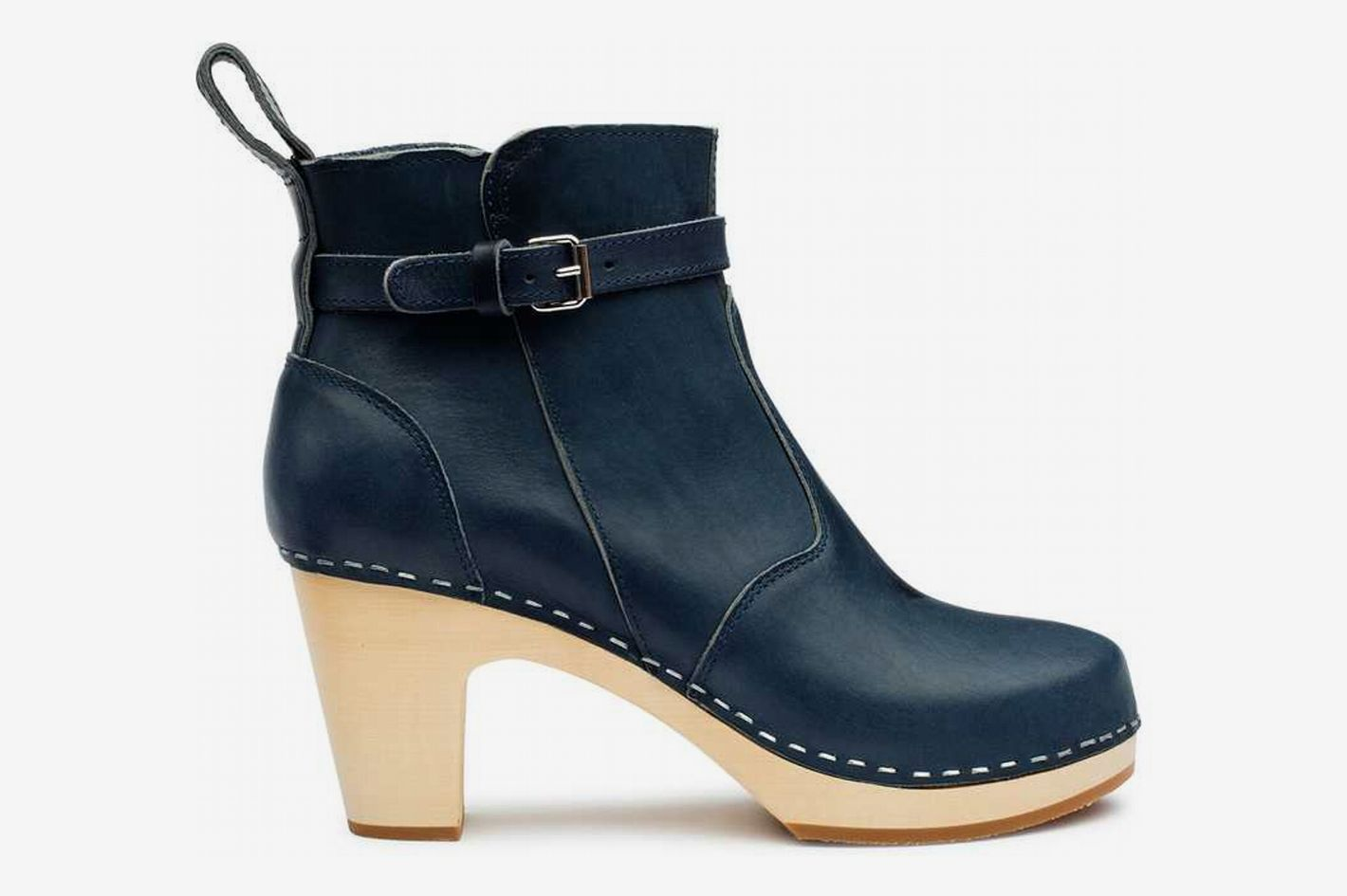 High-Heeled Jodhpur in Dark Blue