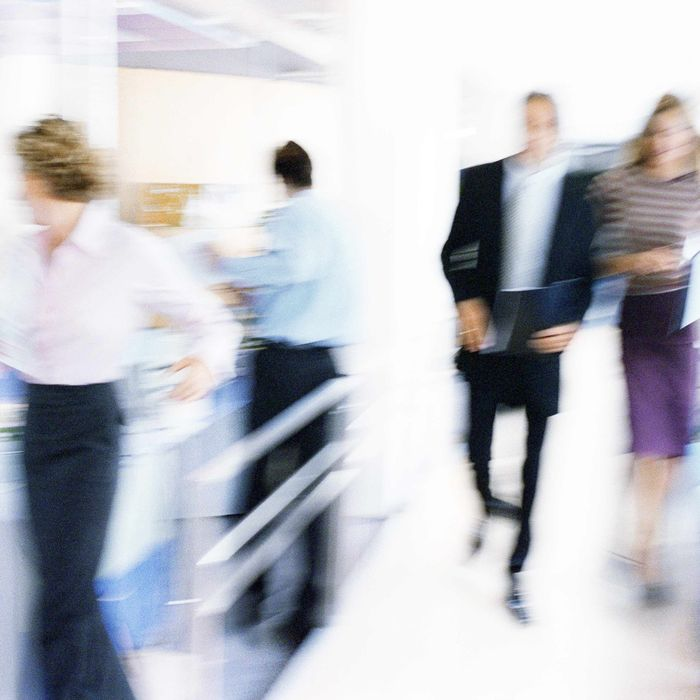 People In Office, Blurred.