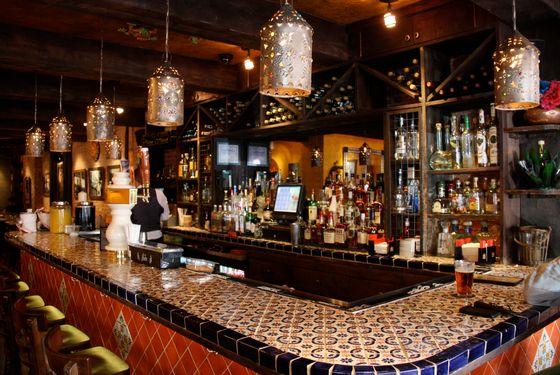 The bar area.