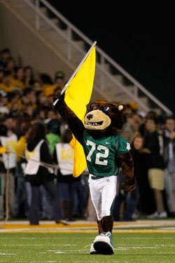 The Baylor mascot. Because it's fun.
