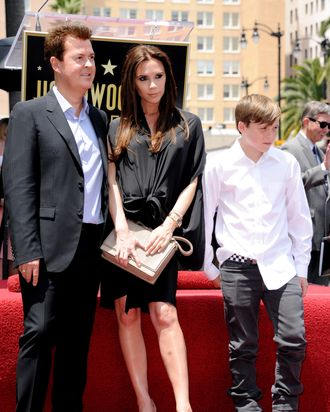 Victoria Beckham, just a month before giving birth.