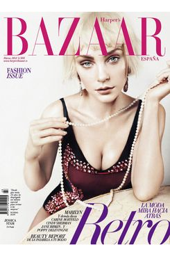 Jessica Stam covers <em>Harper's Bazaar Spain</em>.