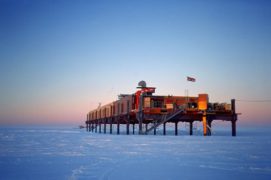 The British Antarctic Survey research station at Halley, in Antartica.