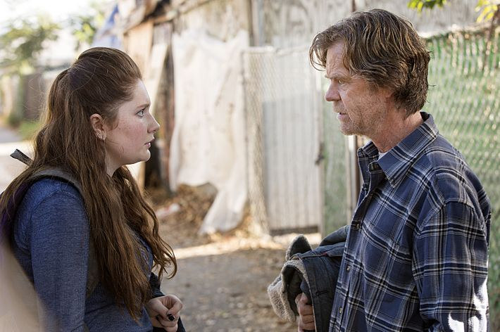 Emma Kenney as Debbie Gallagher and William H. Macy as Frank Gallagher in Shameless (Season 6, episode 3) - Photo: Monty Brinton/SHOWTIME - Photo ID: shameless_603_5753