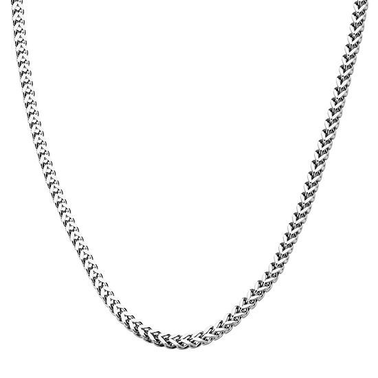 J.C. Penney Stainless Steel 24 Inch Snake Chain Necklace