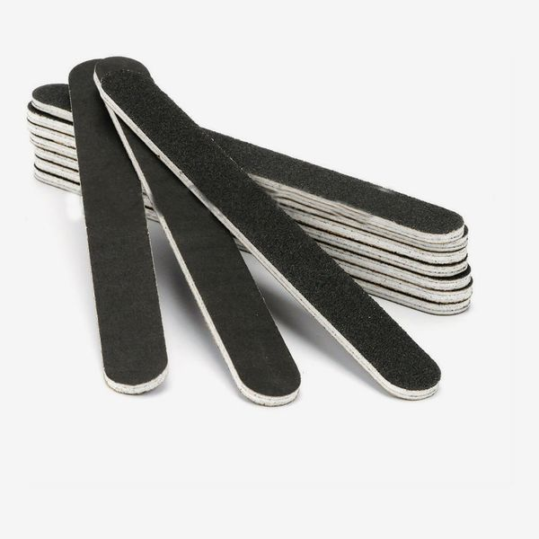 Black Pro Double Sided Manicure Nail File Emery Boards (Pack of 10)