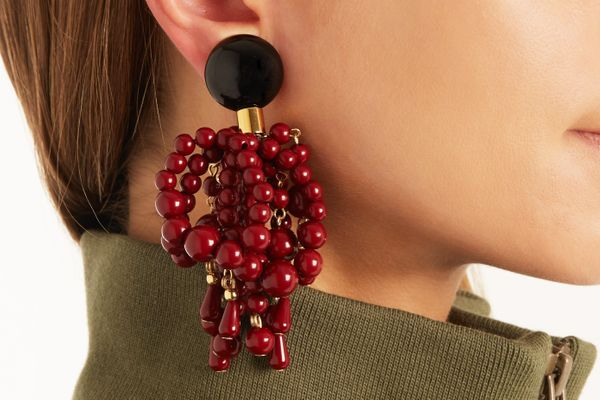 Marni Bead-embellished clip-on earrings