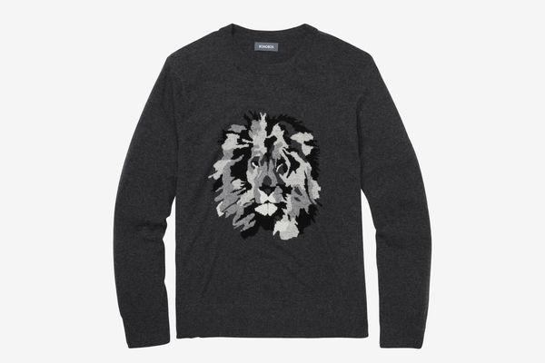 Men's Lightweight Wool Lion Crew Sweater