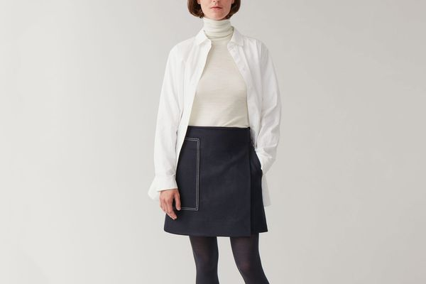 Cos Short Wool Skirt