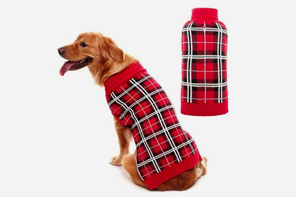 PUPTECK Classic Plaid Style Dog Sweater